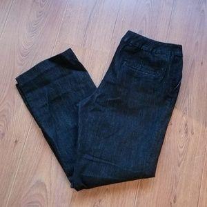 Chico's Platinum Jeans Black Trouser Leg Jeans